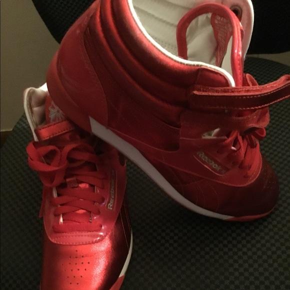 5bc276519bb Reebok Shoes - Metalic Red Retro Reebok Classics 5411
